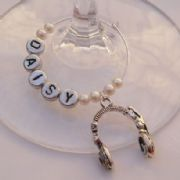 Headphones Personalised Wine Glass Charm